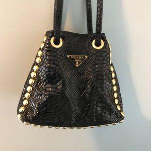 de4671d89cbbdf discount prada embellished nylon backpack f7d48 e9bf3; store prada bags  prada bucket reversible cross body stud snake bag c7d93 20aab